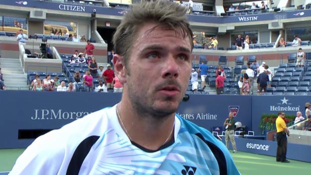 Video «Tennis: US Open, Platzinterview mit Wawrinka (englisch)» abspielen