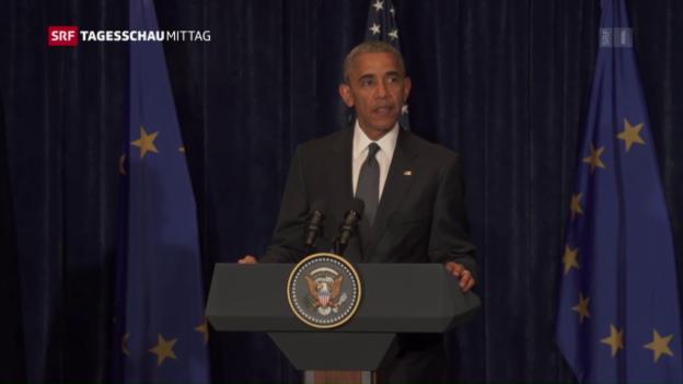 Video «Obama: «Die Mehrheit der Polizisten macht ihren Job gut.»» abspielen