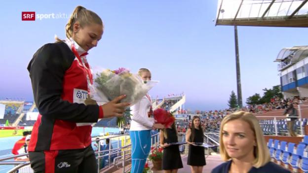 Video «Angelica Moser holt Gold an der U20-WM» abspielen