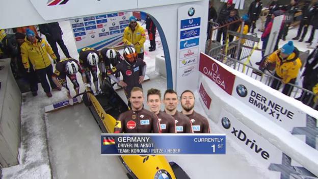 Video «Viererbob-EM: 2. Durchgang Maximilian Arndt» abspielen