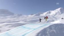Video «Skicross: Weltcup in Arosa, kleiner Final der Männer» abspielen