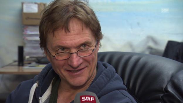 Video «Eishockey: Del Curto vor Playoff-Final» abspielen