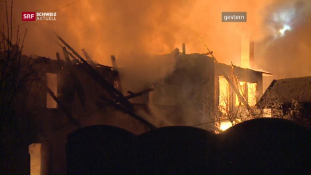Video «Grossbrand zerstört Dorfkern» abspielen