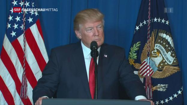 Video «Trump begründet die Attacke in Syrien» abspielen