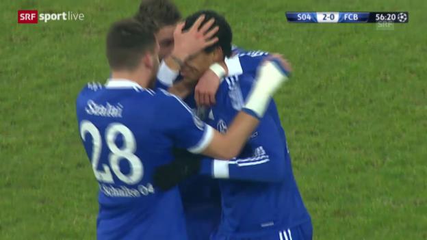 Video «Fussball: Champions League, Schalke - Basel: Die Highlights («sportlive», 11.12.2013)» abspielen