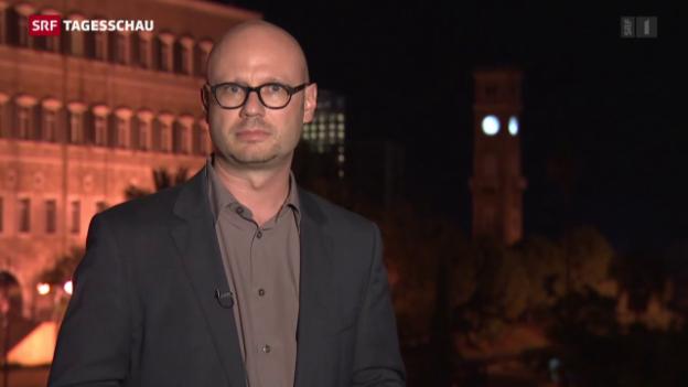 Video «Pascal Weber aus Beirut zur US-Ankündigung» abspielen