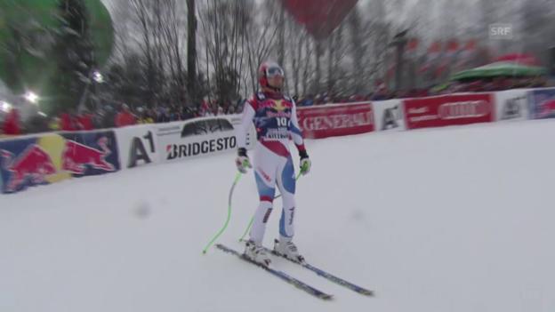 Video «Ski alpin: Weltcup Männer, Abfahrt Kitzbühel, Fahrt Küng» abspielen