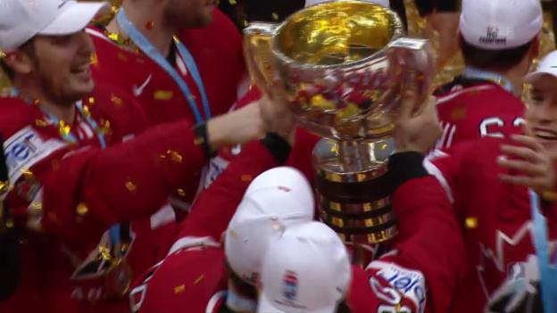 Video «Kanada schlägt Finnland und holt WM-Gold» abspielen