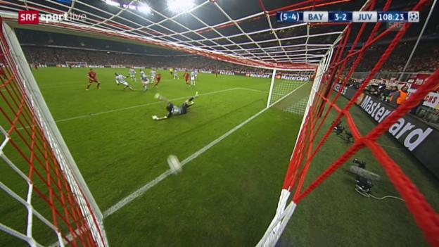 Video «Thiago schiesst Bayern in der Verlängerung in Front» abspielen
