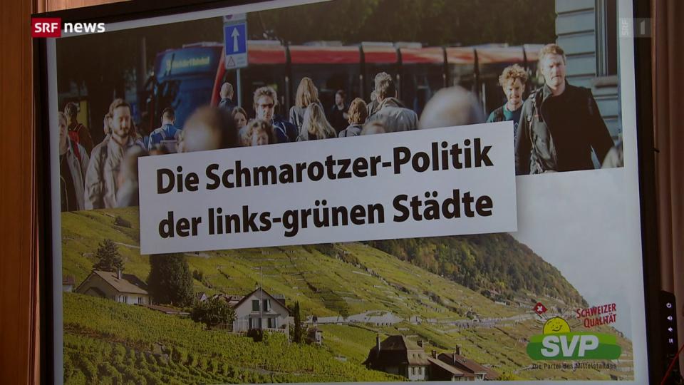 SVP fordert Massnahmen gegen «links-grünen Schmarotzer-Städte»