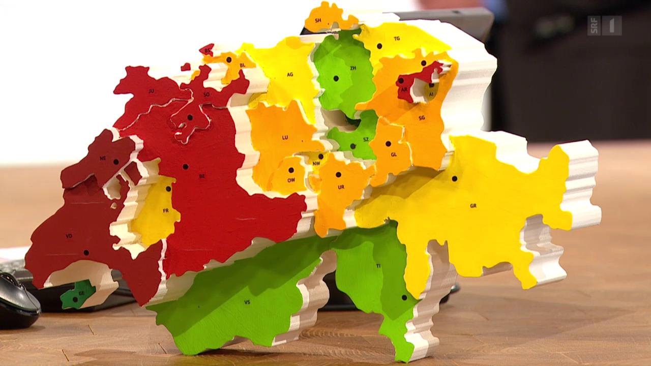 Unsoziale Kantone: Steuersenkungen entlasten vor allem Reiche