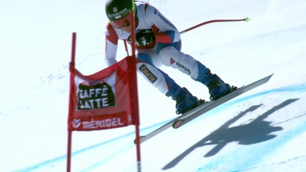 Video «Ski alpin: Weltcup-Finale in Méribel, Frauen-Abfahrt, Fabienne Suter» abspielen