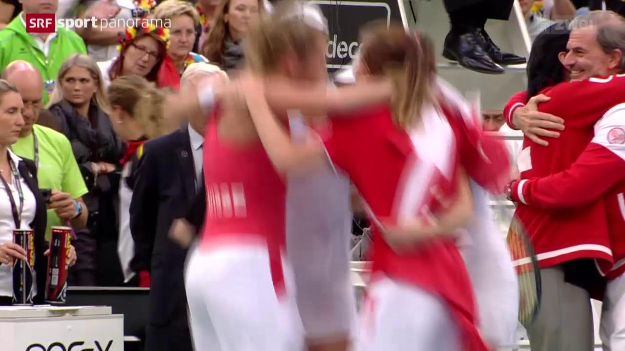 Schweiz zieht in den Fed-Cup-Halbfinal ein