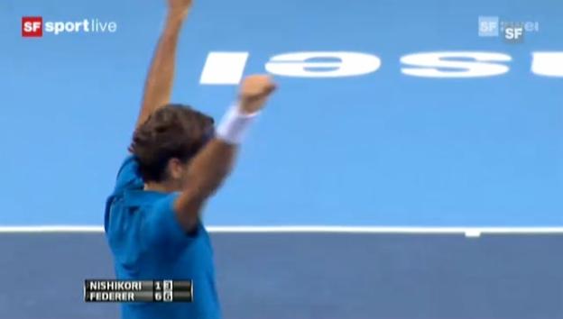 Video «Swiss Indoors: Highlights Federer - Nishikori («sportlive»)» abspielen