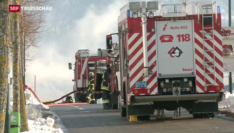 Brände nach einer Explosion in Bulle