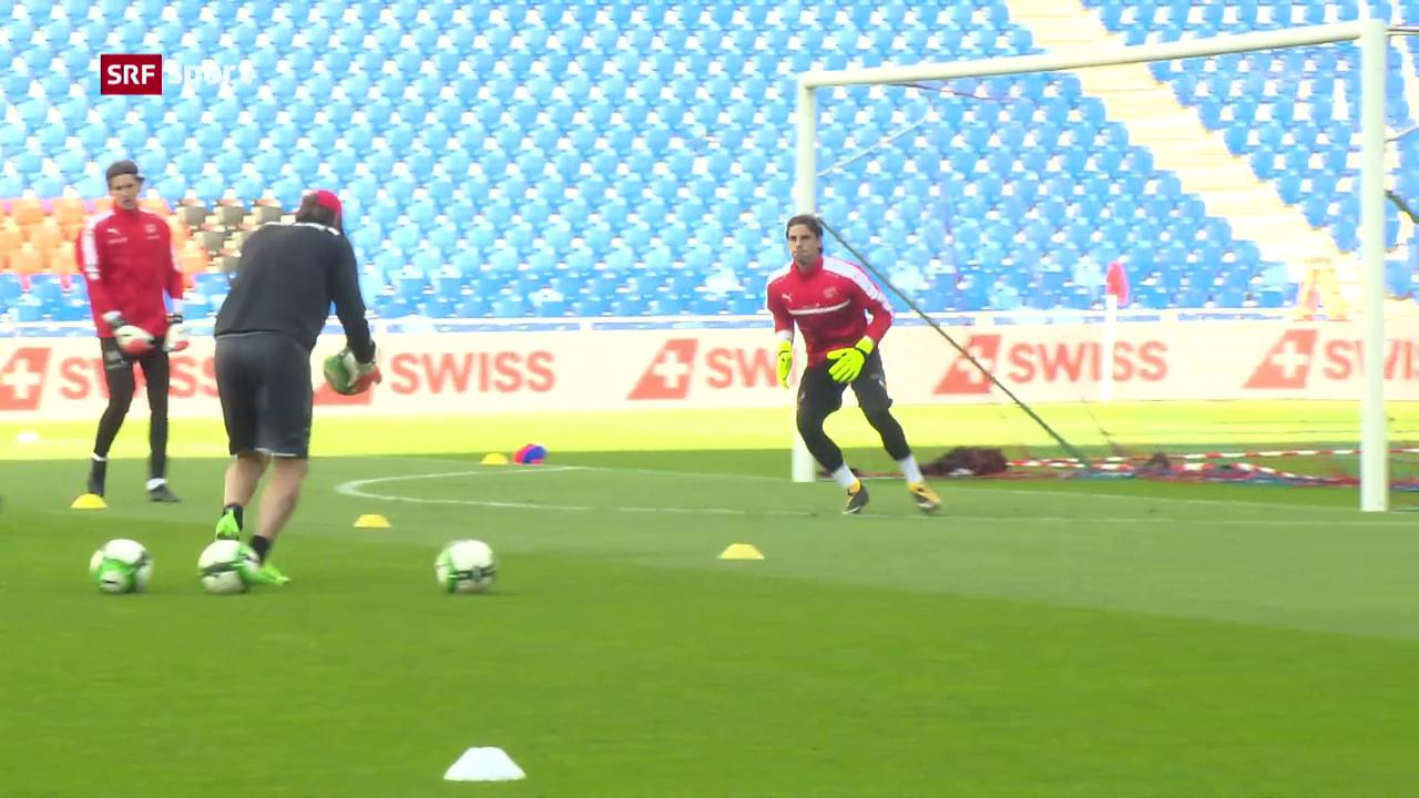 Die Nati vor dem Spiel gegen Ungarn