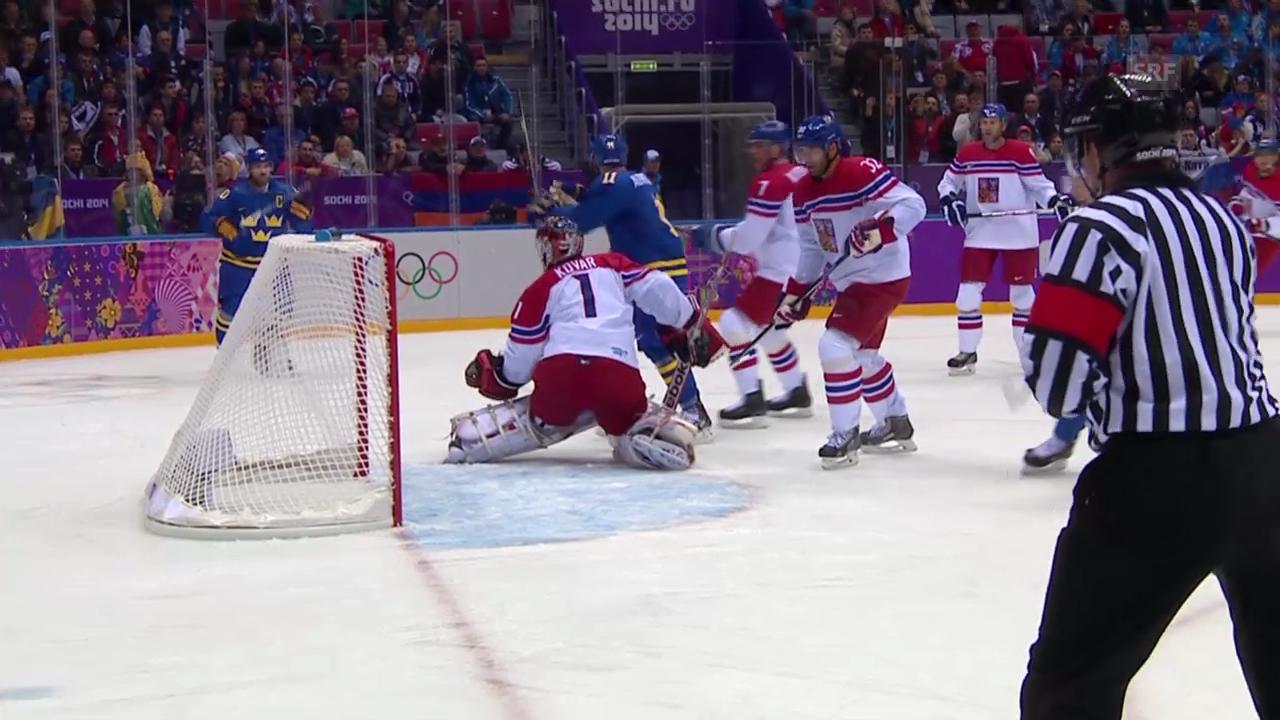 Eishockey: Schweden - Tschechien: Alle Tore (unkommentiert, sotschi direkt, 12.02.2014)