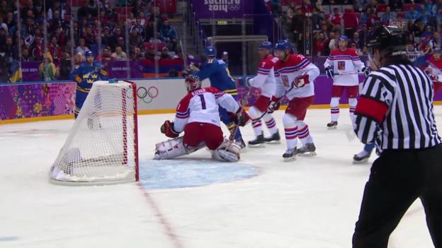 Video «Eishockey: Schweden - Tschechien: Alle Tore (unkommentiert, sotschi direkt, 12.02.2014)» abspielen