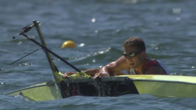 Video «Serbisches Zweier-Boot kentert» abspielen