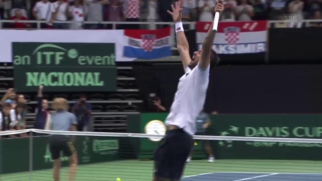 Cilic führt Kroatien in den Davis-Cup-Final (SNTV)