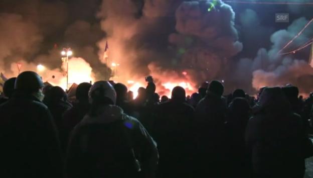 Video «Bilder der Gewalt aus Kiew (unkommentiert)» abspielen
