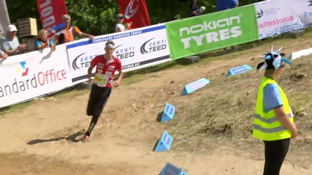 Video «Der Zieleinlauf von Matthias Kyburz» abspielen