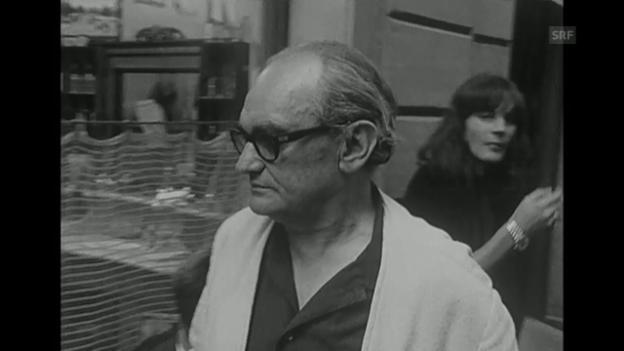 Video «Dreharbeiten «Dällebach Kari», Beitrag in der Antenne von 1970» abspielen