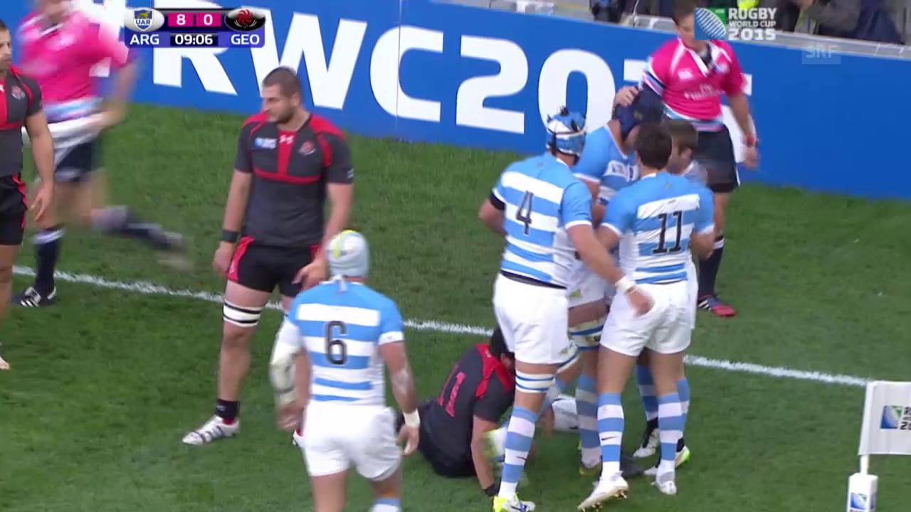 Rugby: WM, Highlights Argentinien - Georgien