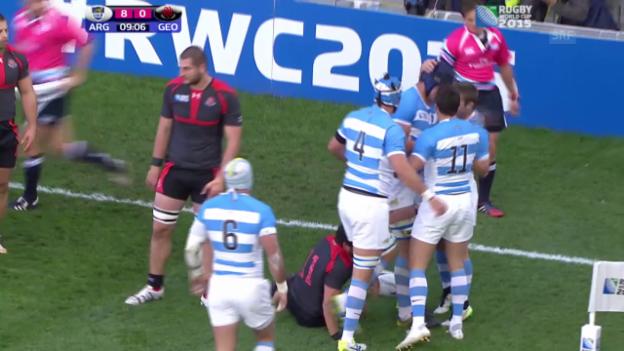 Video «Rugby: WM, Highlights Argentinien - Georgien» abspielen