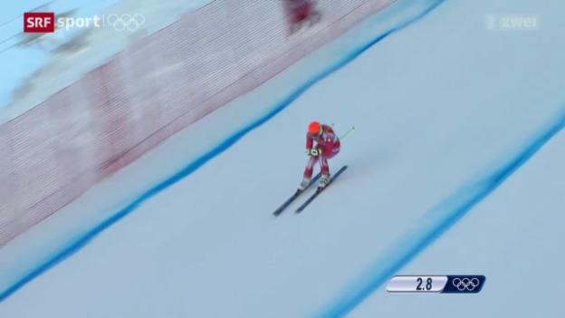 Video «Ski alpin: 1. Abfahrtstraining der Männer» abspielen