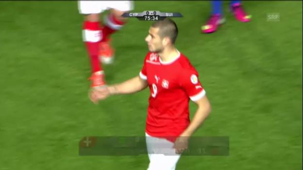 Video «Fussball: Zusammenfassung Zypern - Schweiz («sportaktuell»)» abspielen