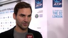 Link öffnet eine Lightbox. Video Federer: «Habe mir bewiesen, dass ich mich steigern konnte» abspielen