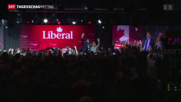 Video «Die Liberalen haben Kanadas Parlamentswahl gewonnen» abspielen