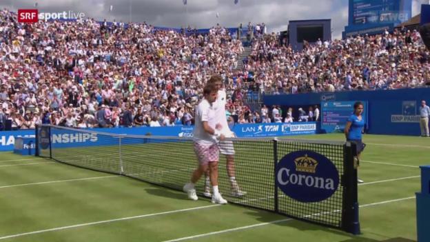Video «Tennis: Wawrinka scheitert an Anderson» abspielen