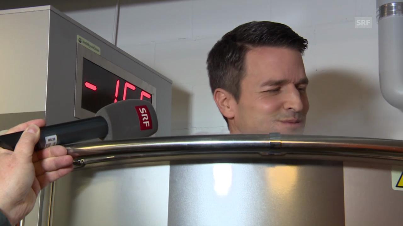 «Achtung, fertig, Paddy!»: Abkühlen bei -170 Grad