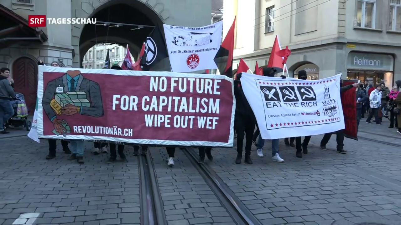 Anti-WEF-Demo in Bern