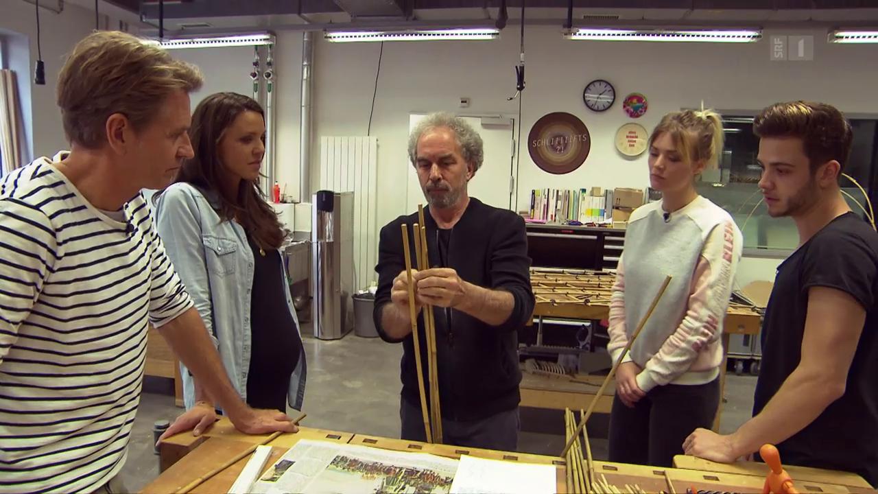 Das Goldene Lot: Luca Hänni und Co. basteln mit Bambus