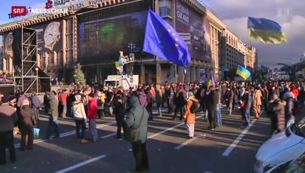 Video «Proteste in der Ukraine gegen Regierung gehen weiter» abspielen
