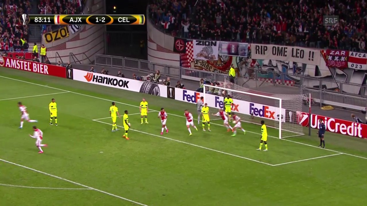 Fussball: Europa League, Ajax - Celtic