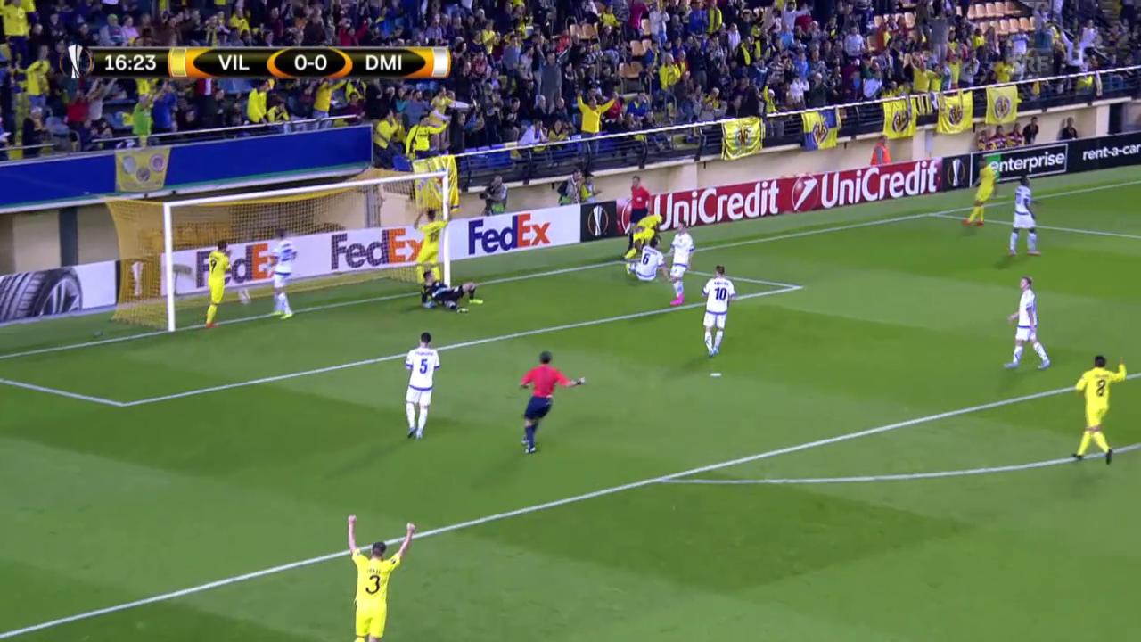 Fussball: Europa League, Zusammenfassung Villarreal - Dynamo Minsk