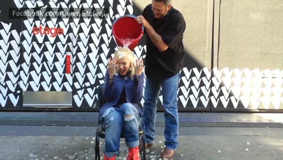 Gwen Stefanis Ice Bucket Challenge (Englischer Originalton)
