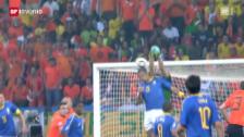 Video «Die Holländer schlagen Brasilien» abspielen