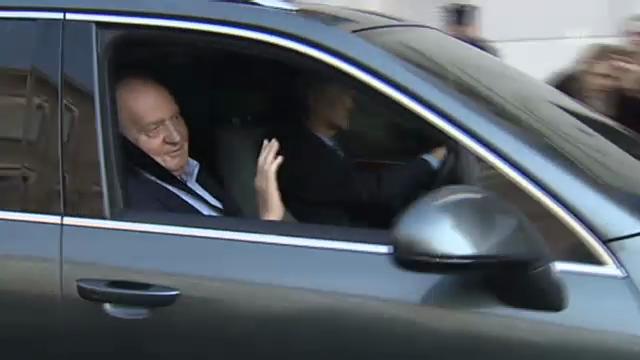 Juan Carlos' Ankunft im Krankenhaus