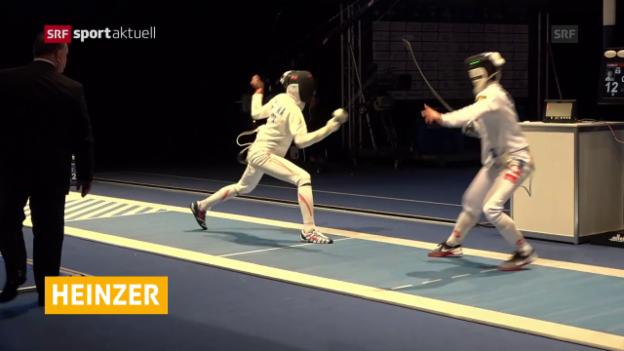 Video «Heinzer scheitert in den Achtelfinals» abspielen