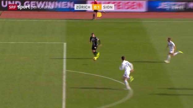 Video «Fussball: Daniel Follonier trifft, FC Zürich - Sion» abspielen