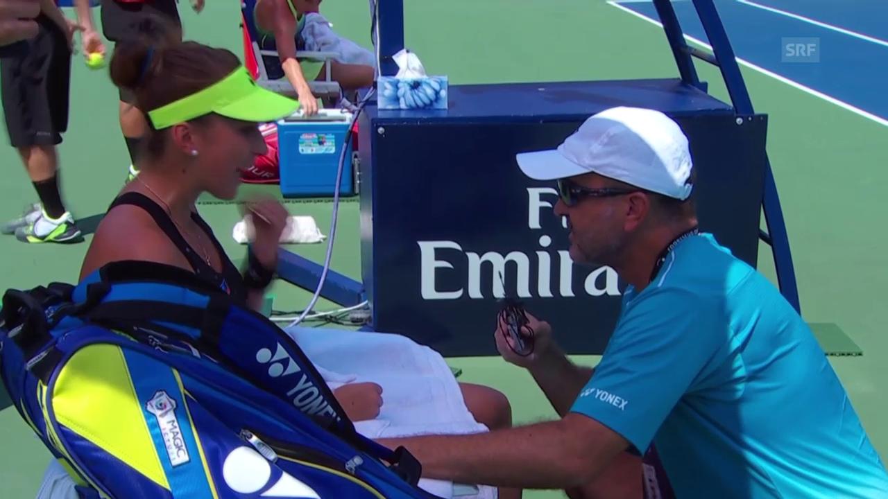 Tennis: WTA Toronto, Diskussion Belinda und Ivan Bencic