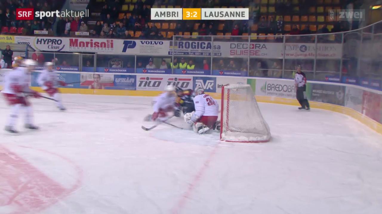 Eishockey: NLA, Ambri - Lausanne