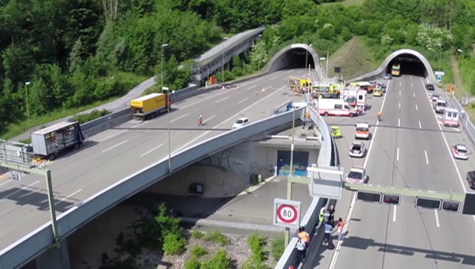 Unfall im Uetlibergtunnel