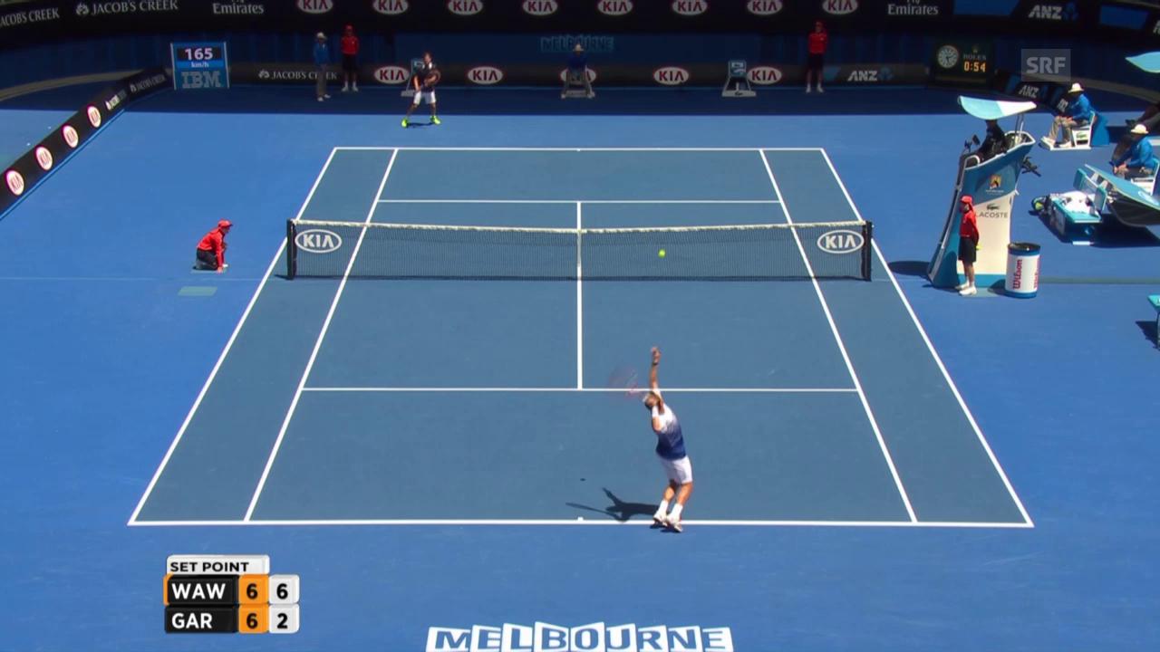 Tennis: Australian Open. Wawrinka-Garcia-Lopez, 1. Satz