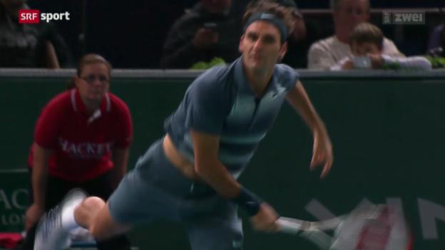 Video «Tennis: ATP-Turnier in Paris-Bércy, Federer - Kohlschreiber» abspielen